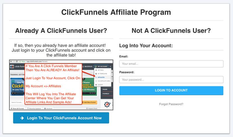 Clickfunnels programma di affiliazione