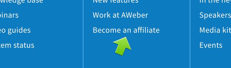 Aweber - programma di affiliazione