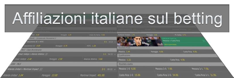 affiliazioni italiane sul betting