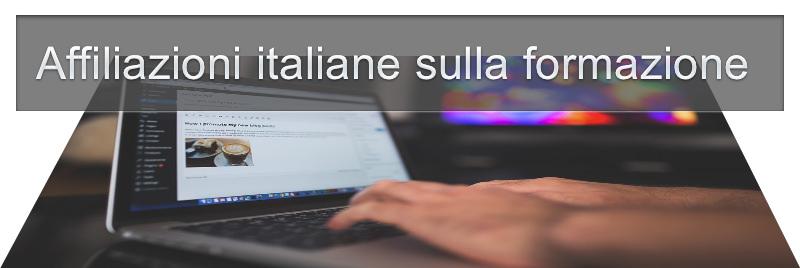 affiliazioni italiane sulla formazione online